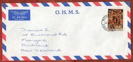 Luftpost, Weihnachten, Rarotonga Cook Islands Nach Auckland 1976 (71841) - Cookinseln