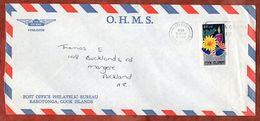 Luftpost, Weihnachten, Avarua Cook Islands Nach Auckland 1980 (71842) - Islas Cook