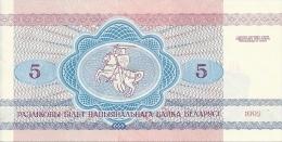 BIELORUSSIE 5 RUBLEI 1992 AUNC P 4 - Belarus