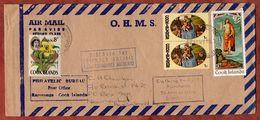 Luftpost, Apollo U.a., Rarotonga Cook Islands Nach Auckland 1970 (71845) - Cookinseln