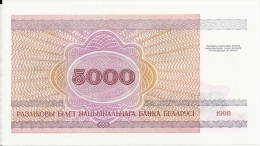 BIELORUSSIE 5000 RUBLEI 1998 UNC P 17 - Belarus