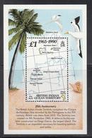 1990 British Indian Ocean Territory Anniversary Maps Birds Trees Souvenir Sheet Complete Set Of 1 MNH - Britisches Territorium Im Indischen Ozean