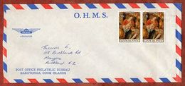 Luftpost, Weihnachten, Rarotonga Cook Islands Nach Auckland 1982 (71846) - Cook Islands