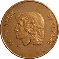 ESPAÑA. MEDALLA CONMEMORATIVA DE LA VISITA DE LA REINA SOFÍA A LA F.N.M.T. 1.988. ESPAGNE. SPAIN MEDAL - Monarchia/ Nobiltà