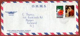 Luftpost, Weihnachten, Rarotonga Cook Islands Nach Auckland 1982 (71847) - Cookinseln