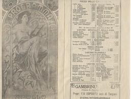 DEPLIANT TUTTO PUBBLICITARIO PROGRAMMA TEATRO APOLLO ROMA BIRRA PERONI BICICLETTE BIANCHI......... 3 SCANNER 28854-55-56 - Publicité