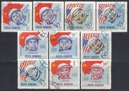 RUMÄNIEN 1964 - MiNr: 2238-2247  Komplett  Used - Raumfahrt