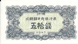 COREE DU NORD 50 CHON 1947 UNC P 7 - Corée Du Nord