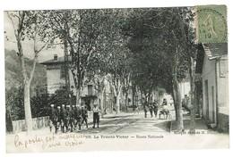 06 La ,trinité Victor. Route Nationale. Animée, , Datée 1919. Tb état édit M.N. - Autres Communes