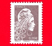Nuovo - MNH - FRANCIA - 2018 - Marianna - Marianne L'Engagée - (YZ Digan) - 0.05 - 2018-... Marianne L'Engagée