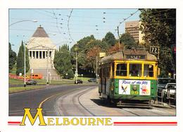 Postcard Of Melbourne, Victoria, Tram Traveling Along St. Kilda Road (5419) - Tramways