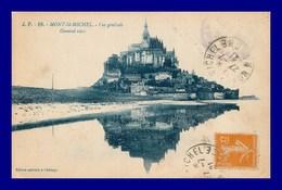 Le Mont St Michel * Vue Générale   (scan Recto Et Verso ) - Le Mont Saint Michel