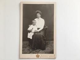 Kabinettfoto Kind Junge Mit Mutter Spielzeug Hofphotograph E Friderici Bad Neuenahr - Non Classificati