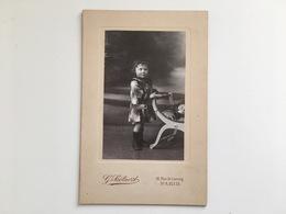Kabinettfoto Kind Enfant Mode Fashion Foto Photo G Soetaert Rue De Lancry Paris - Non Classificati
