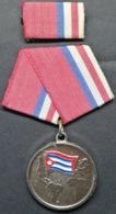 O435 CUBA MEDALLA MILITAR SEGUNDA CLASE, COMBATIENTE INTERNACIONALISTA, WAR OF ANGOLA, NICARAGUA, ETIOPIA. - Other Countries