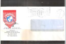 Lettre Avec Vignette Postexpress De St.Niklaas Vers Antwerpen En 1997 (à Voir) - Belgique