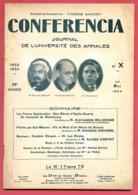 CONFERENCIA  1934 N° 10 Du 1 Mai  Journal Université Annales * Revenant De Strasbourg - Roman - Frédéric Chopin - - Journaux - Quotidiens