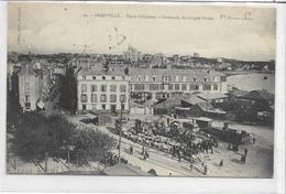50 GRANVILLE . Place D'Orléans Très Animée , Cavalcade Du Cirque Pinder ,Rare , édit : Coron , écrite  , état Extra - Granville