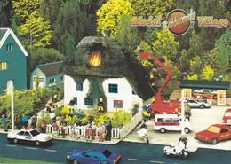 Postcard Babbacombe Model Village Torquay Housefire Police Fire Brigade Ambulance My Ref  B23523 - Torquay
