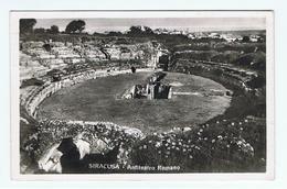 SIRACUSA:  ANFITEATRO  ROMANO  - CENNO  DI  PIEGA  -  FOTO  -  FP - Antichità
