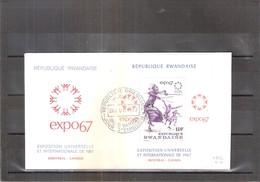 Expo 67 Montréal - FDC République Rwandaise - Bloc Expo 67 (à Voir) - 1967 – Montreal (Canada)