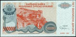 CROATIA - 5.000.000 Dinara 1993 {Knin} UNC P. R24 - Croatia