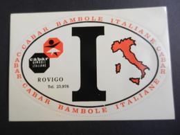 2.2) ADESIVO CABAR BAMBOLE ITALIANE ROVIGO OVALE GRANDE I DI ITALIA - Adesivi
