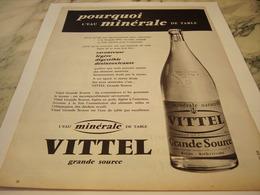 ANCIENNE PUBLICITE GRANDE  SOURCE DE VITTEL  1959 - Afiches