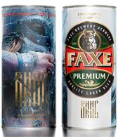 Empty Aluminum Can Faxe Film Viking 1l. - Latas