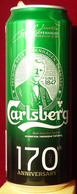 Empty Aluminum Can Carlsberg 170 Years 0,5l. (1) - Cans