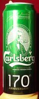 Empty Aluminum Can Carlsberg 170 Years 0,5l. (1) - Latas