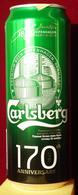 Empty Aluminum Can Carlsberg 170 Years 0,5l. (2) - Latas