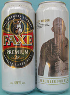 Empty Aluminum Can Faxe Jeff Monson 0,5l. - Dosen