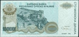 CROATIA - 100.000.000 Dinara 1993 {Knin} UNC P. R25 - Croatia