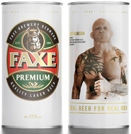 Empty Aluminum Can Faxe Jeff Monson 0,9l. - Cans