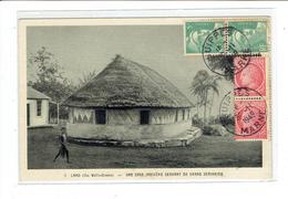 CPA WALLIS ET FUTUNA - 1. LANO - UNE CASE INDIGENE SERVANT DE GRAND SEMINAIRE - Wallis Y Futuna