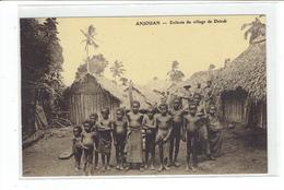 CPA COMORES - ANJOUAN - ENFANTS DU VILLAGE DE DZINDI - Comores