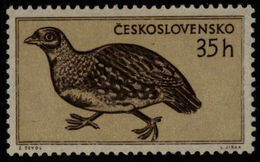 Czechoslovakia Tschechoslowakei Tchécoslovaquie 1955 **MNH Grey Partridge Rebhuhn Perdrix Grise - Rebhühner & Wachteln