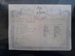 Indochine Programme Et Menu Du 14 Juillet 1936  Militaire - Documents