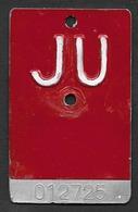 Velonummer Jura JU (012725) Träger Geprägt Für JU-Vignetten - Plaques D'immatriculation
