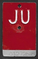 Velonummer Jura JU (012725) Träger Geprägt Für JU-Vignetten - Number Plates
