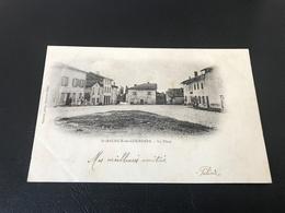 SAINT MAURICE DE GOURDANS La Place - 1904 Timbrée - France