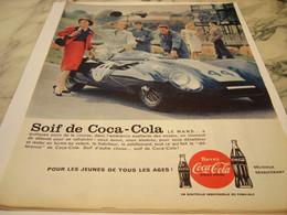 ANCIENNE PUBLICITE SOIF DE COCA COLA 1959 - Afiches