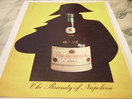 ANCIENNE PUBLICITE COGNAC  COURVOISIER THE BRANDY OF NAPOLEON 1959 - Alcools