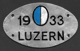 Velonummer Luzern LU 33 - Plaques D'immatriculation