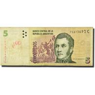 Billet, Argentine, 5 Pesos, Undated (1998-2003), KM:347, TB - Argentine