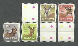 Malawi 1971 (#148e), Animals, Animales, Animaux, Animali, Tiere, Animais, Zwierzęta, Antelopes - 4v Incomplete Set - Game
