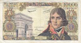 Billet 10000 F Bonaparte Du 7-11-1957 FAY 51.10 Alph. J.103 - 1871-1952 Antichi Franchi Circolanti Nel XX Secolo