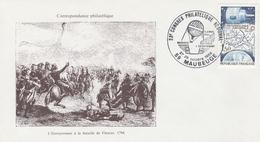 OBLIT. ILLUSTREE G.F. CONGRES PHILAT. MAUBEUGE 10/84 - BALLON à La BATAILLE De FLEURUS En 1784 - Postmark Collection (Covers)