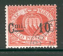 SAN MARINO 1892 Scott Cat. No. 27 Used - San Marino